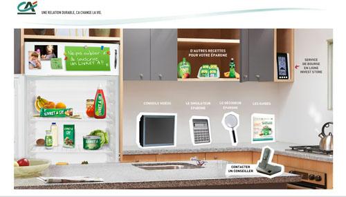 Capture d'écran du site du Crédit Agricole
