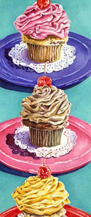 Patianne Stevenson réalise aussi des peintures colorées, sucrées/salées