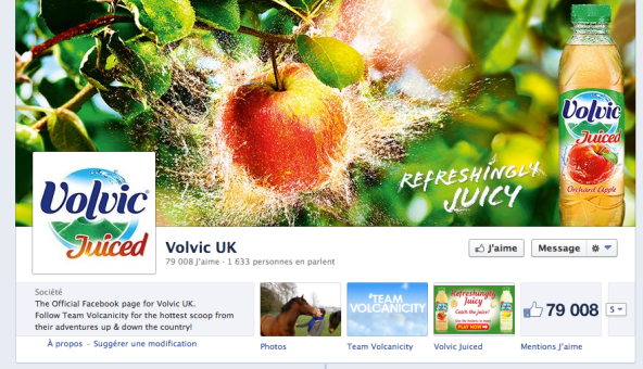 Facebook Volvic UK