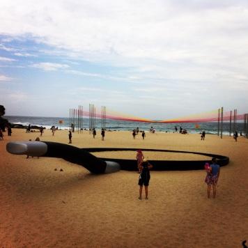 Art on Tamarama beach, Sydney