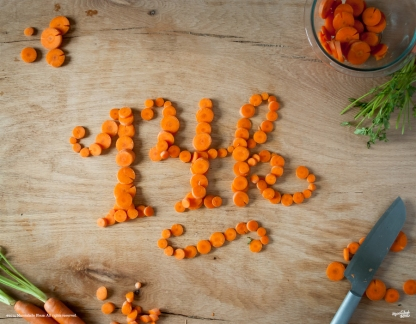 Food Typography, Danielle Evans